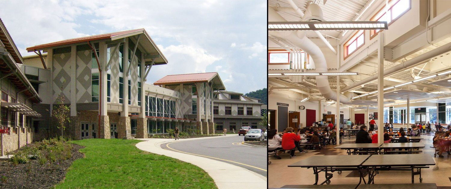 Cherokee Central Schools building architectural project