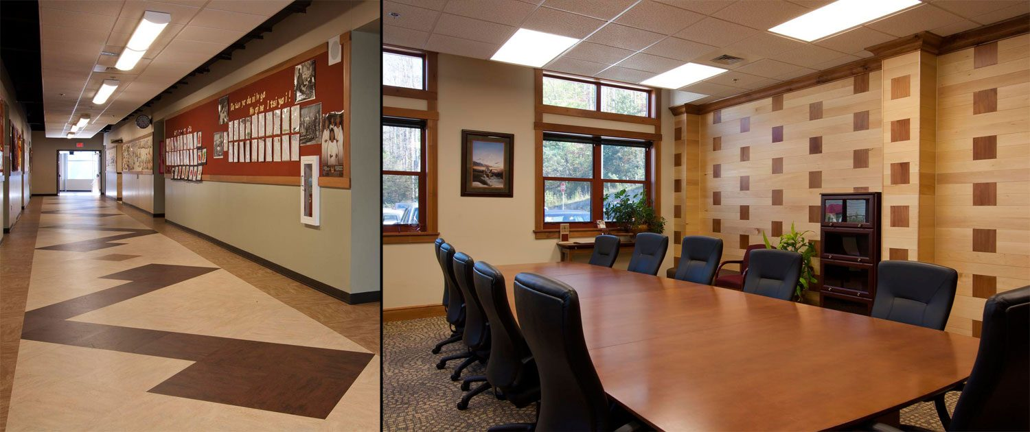 Cherokee Central Schools - meeting rooms and hallway